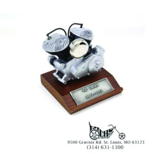 """74"""" Chief 1923-1953 Motor Model Cast Pewter Construction on a Wooden Base"""