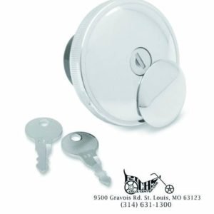 Lockable Gas Cap with Cover Non-Vented Late 96-14 Harley Models