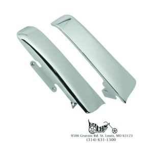 Chrome Fender Saddlebag Filler Panels 14-Later Big Twin Touring Models 90201112
