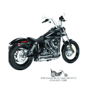 Arlen Ness Lowdown 2-into-2 Chrome 06-15 Dyna w/ Mid Or Forward Controls