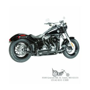 Arlen Ness Lowdown 2-into-2 Black 96-15 Softail