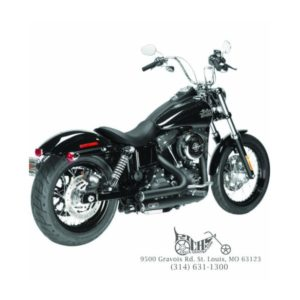 Arlen Ness Lowdown 2-into-2 Black 06-15 Dyna w/ Mid or Forward Controls