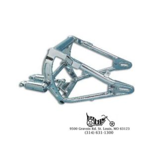 Swingarm and Shock Assembly Chrome for Harley FXST, FLST 2000-05