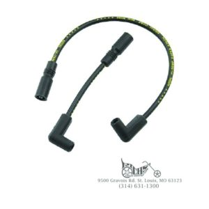 Accell Black Spark Plug Wire Set 8.0 S/S Softail 00-12 Carbureted or Fuel Inject