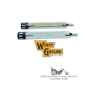 """Wyatt Gatling Muffler Set With Revolver Tips for Harley FLT 95-Up (4"""" Diameter)"""