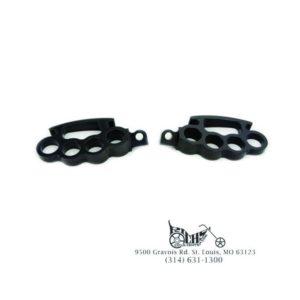 Black Knuckle Footpeg Set - Fits See Below