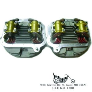 Panhead Cylinder Heads Full Assembly Stock Bore FL 63-65