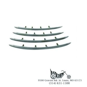 Rear Fender Top Stainless Steel Trim Set for Harley FL 1949-57