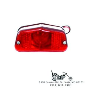 Tail Lamp Large Lucas Style 12 volt 23/8 watt clear bulb