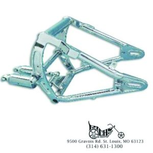 Swingarm and Shock Assembly Chrome for Harley FXST, FLST 1986-99