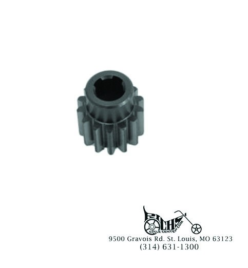 14 Tooth 2-Brush Generator Drive Gear for Harley XL 1963-82