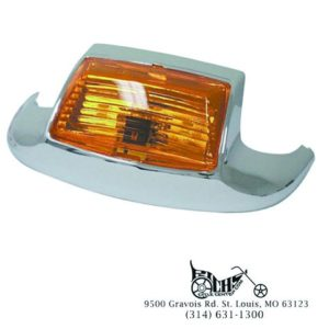 OE Style Front Amber Lighted Fender Tip Touring Models Rpls 59082-79