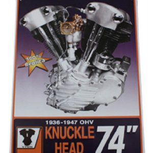 18x24 Harley Knucklehead Metal Shop Sign