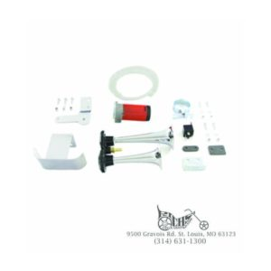 Chrome Air Horn Kit for Harley FL & FX 1991-Up