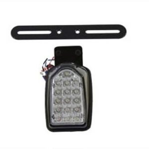 Black Mini Tombstone Tail Lamp with Bracket - Custom application