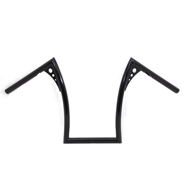 "1"" black handlebar 15"" rise FL FX 82-84 XL 82-Up FLST 86-Up"