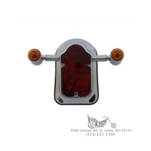 Wide Tombstone LED Tail Lamp Assembly Chrome FX FL XL FXD FXR 73-94