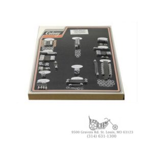 Engine Dress Up Cap Kit, Chrome XL 1985-1986 Evolution 5-Speed