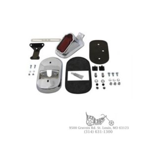 Chrome Tombstone Tail Lamp Kit - FXD 1999-UP, XL 1999-UP