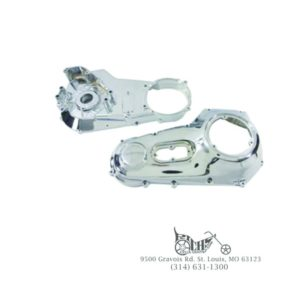 Chrome Primary Cover Set for Harley FXST/FLST 1990-93 (Inner & Outer Cover)