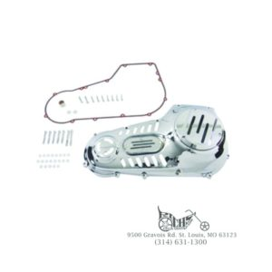 Chrome Vented Outer Primary Cover Kit for Harley FXST/FLST 1989-93