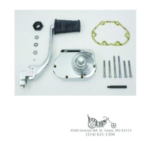 Kickstarter Kit w/fold-out offset kicker arm w/chrome spring for Harley 5-speed