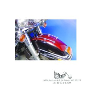 Chrome Front Fender Rail Trim Kit for Harley OEM: 91117-97
