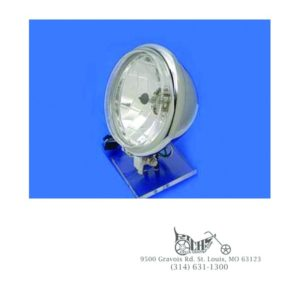 "5-3/4"" Round Headlamp Assembly Reverse Cup Style 60/55 watt H-4 bulb"