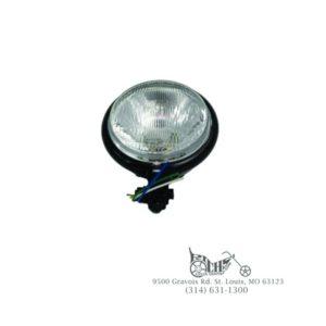 "5-3/4"" Black Round Headlamp - Custom application"