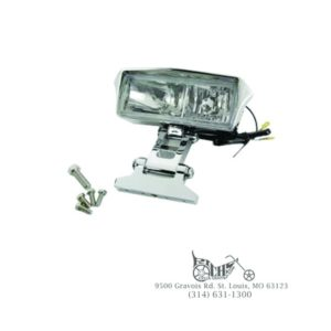 "7"" bottom mount glow style rectangular lamp two 12 volt H-3 55 watt clear bulbs"