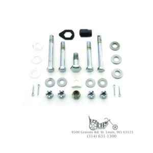 Upper and Lower Motor Mount Bolt Kit Chrome 36-69 Big Twin FL EL