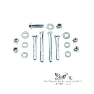 Engine Bolt Mounting Kit Chrome 70-84 Big Twin FL FX