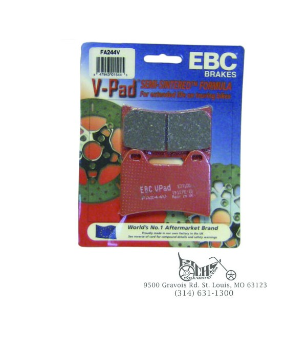 Ebc Brake Pads >> Ebc Brake Pads Front Organic Fa244 Richs Cycle Center