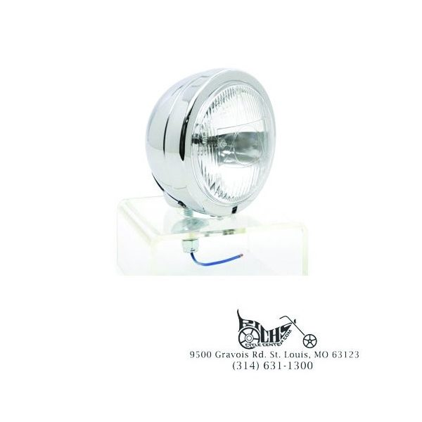 12 Volt H-3 55 Watt Chrome Fluted Spotlight Kit FL FLT FLST 64-Up