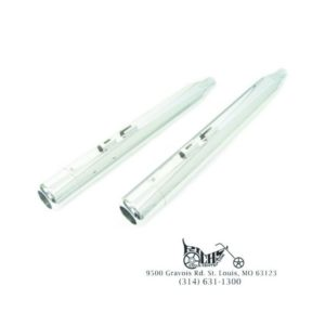 Muffler Set with Chrome Hollow Point End Tips for Harley FLT 1995-Up