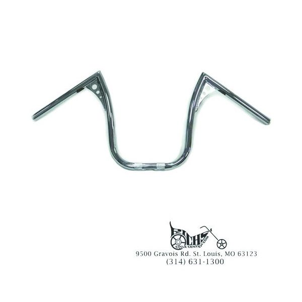 "13"" Chrome Z-Bar Handlebar with Wiring Slots XL Softail Super Glide Dyna 82-Up"